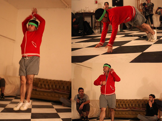 Geraldo works out for a London audience during his residency with Animamus Art Salon. Photos by Anastasia Trahanas.